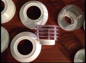 Lámpara De Aluminio Y Plástico Color Blanco
