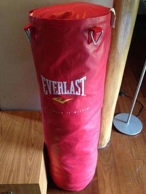 Saco De Boxeo Everlast Nuevo Color Rojo