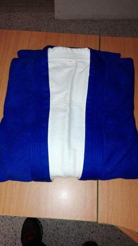 Uniforme De Judo Solo Chaqueta Reversible Azul Y Blanco