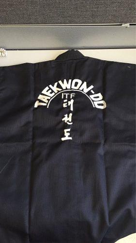 Uniforme De Taekwondo Itf Negro Original