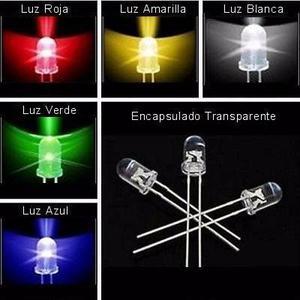10 Diodos Led 3 Y 5mm Alto Brillo! Rojo, Azul, Verde, Blanco
