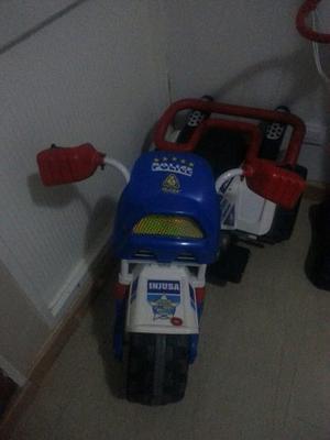 Moto Eléctrica De Policía Para Niño
