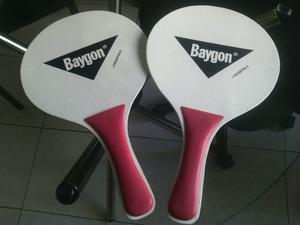 Raquetas Playeras En Madera