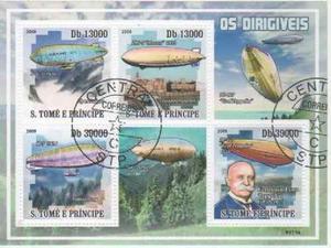Santo Tomé Y Príncipe  Espacio - Zeppelin