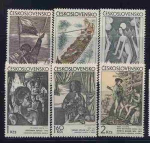 Serie Estampillas De Checoslovaquia Nuevas