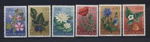 Serie Estampillas De Yugoslavia Flores Nuevas