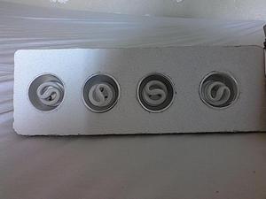 aplique de pared para empotrar com bombillos