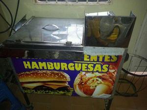 trailers de perros y hamburguesas