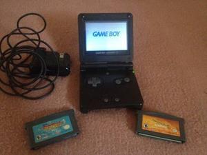 Game Boy Sp(001) Con Dos Juegos Y Cargador
