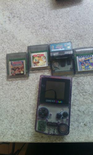 Gameboy Color Con Linterna Y Juegos