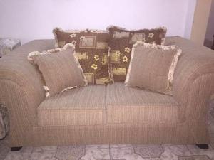 Vendo Juego De Muebles De Tela Con Cojines Nuevos