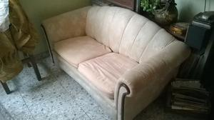 Vendo Sofa 2 Puestos Rosado Para Sala