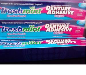 adhesivo para protesis dental sabor a menta denture