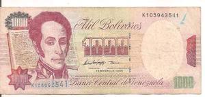 Billete De  Bolívares Febrero 5 De  K9