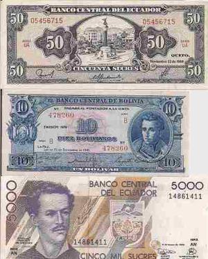 Excelente Lote De 30 Billetes Diferentes Paises