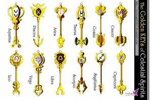 Fairy Tail Llave Dorada Espiritus Celestiales Alto 12 Cms