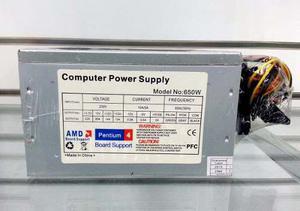 Fuente De Poder Pc Atx 650w Intel Amd 20+4pines Laschimeneas