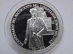 Monedas De 100 Bs, De Plata Bicentenario Libertador