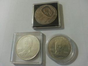 Set De 3 Monedas De Plata Conmemorativas De Lujo