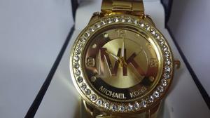 Mk Reloj Metalico Dorado Michael Kors