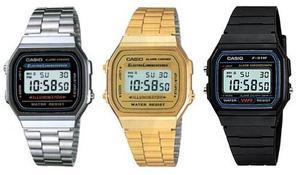 Reloj Casio Retro Metal Y Goma Digital Mayor Y Detal