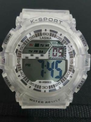 Relojes Deportivo Cronómetro Alarma Luz A Prueba De Agua