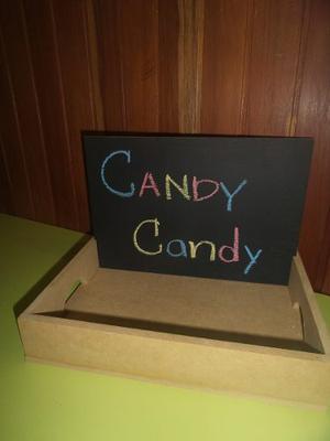 Bandeja Pizarra Para Candy Buffet, Candy Bar En Mdf