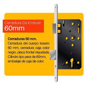 Juegos De Cerradura Para Embutir De 60mm Con Cilindro De 60m