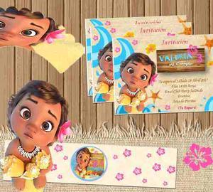 Kit Imprimible Personalizado Moana Bebe Candy Bar