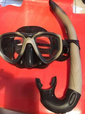 Mascara Y Snorkel De Buceo Seac One Camu Pesca Submarina
