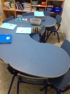 Mesas sillas infantiles escuelas preescolar posot class for Sillas para ninos de preescolar