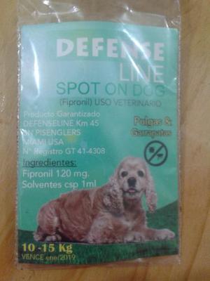 Pipeta Para Perros Defense Line 10 A 15 Kilos