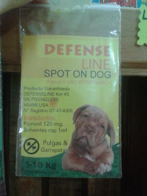 Pipeta Para Perros Defense Line 5 A 10 Kilos
