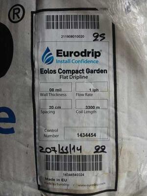Cinta De Riego Por Goteo Eurodrip Importada