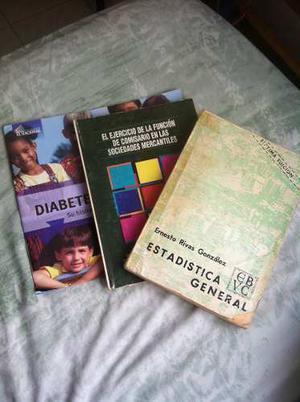 Set De Libros Salud, Estadística Y Finanzas