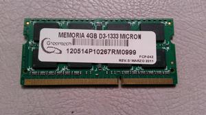 Memoria Ram Laptop 4gb  Ddr3