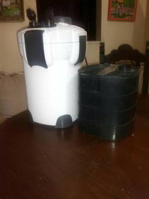 filtro canister para acuarios usado marca sun sun