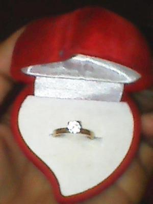 anillo de compromiso oro de 10k