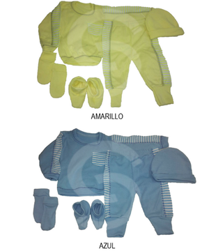 Conjuntos Para Bebes 5 Piezas Ropa De Bebe Rayas