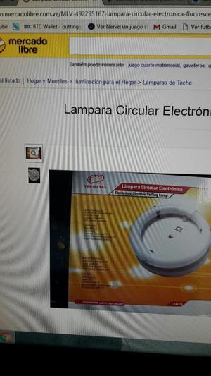 Lampara Electrónica Platón Cuadrado