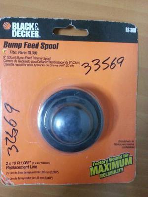 Carrete Para Desmalezadora Black&decker Gl300