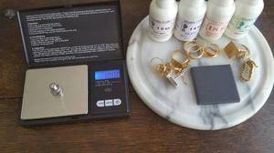 Kit Para Prueba De Oro Piedra Importada, Liquido Balanza