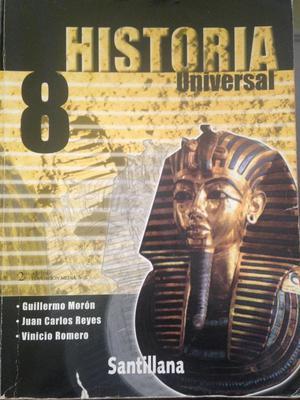 Libro de Historia Universal 8vo, Ed: Santillana