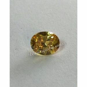 Piedra Facetada Oval Amarilla