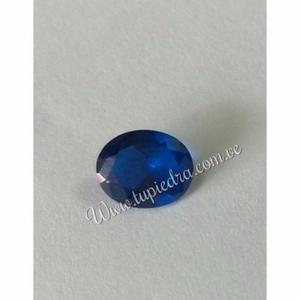 Piedra Facetada Oval Azul