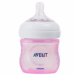 Teteros Bebes Avent Natural 125 Ml / 4oz, Rosado Y Azul
