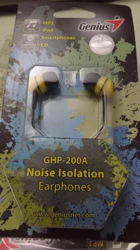 Audifonos Genius Ghp-200a Amarillo Noise Isolation