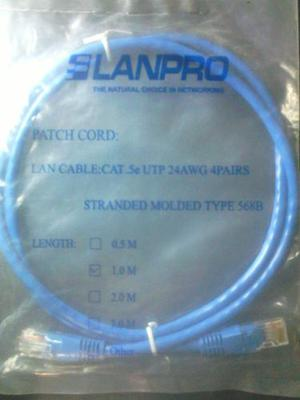 Cable Patch Cord Certificado Lanpro Y Quest 1.0mts Y 2.0mts