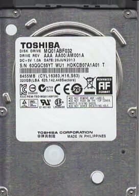 Disco Duro Toshiba 320gb Para Laptop