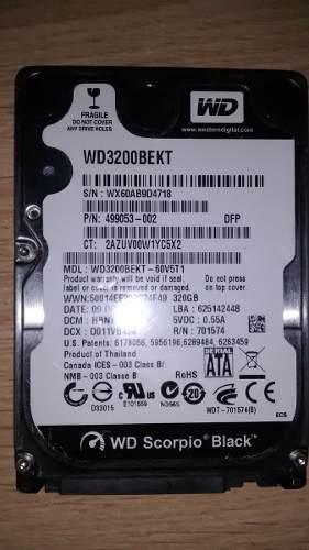 Disco Duro Wd Scorpio Black 320 Gb De Laptop Para Reparar